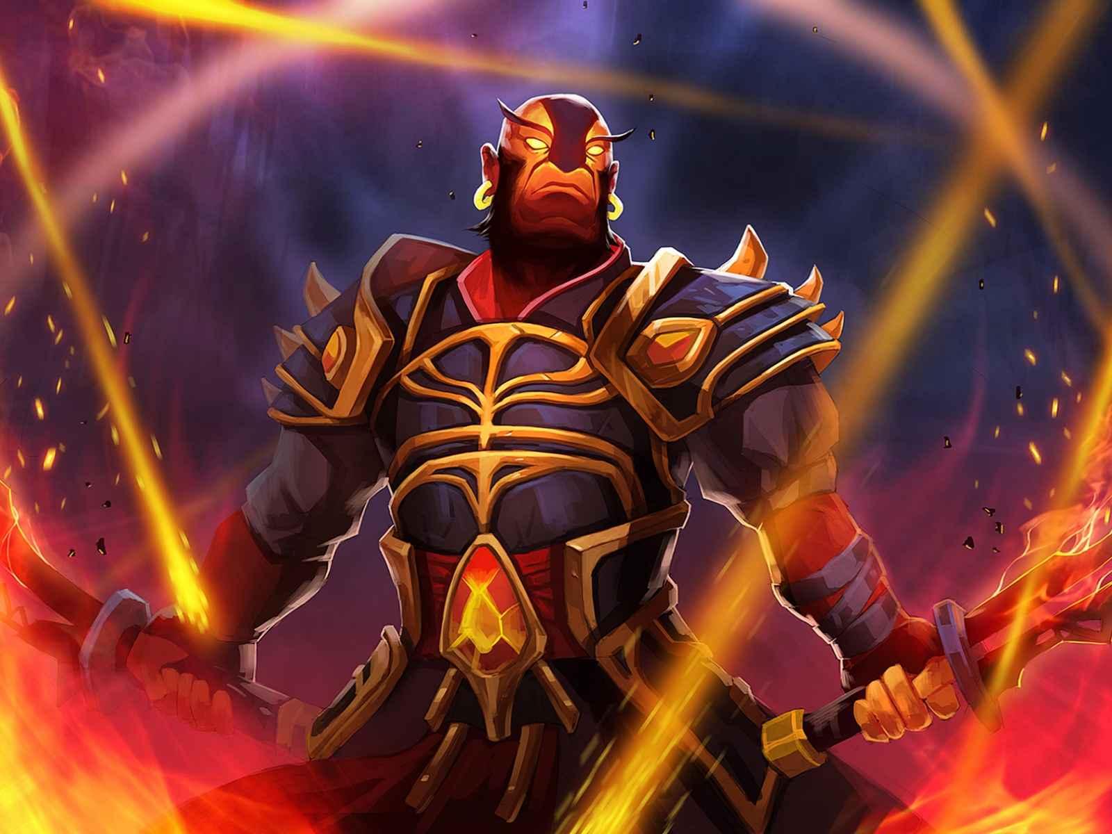 Dota 2, Ember spirit, Armor, Swords, Fire 1600×1200 HD Background
