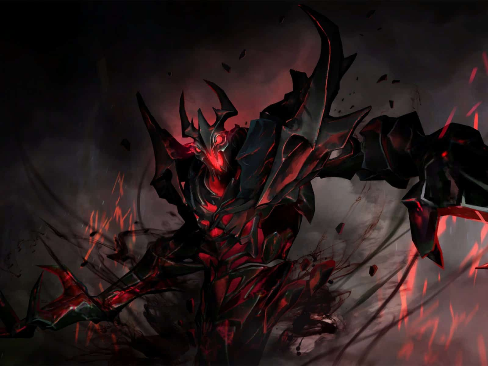 Dota 2, Shadow fiend, Art, Dark 1600×1200 HD Background