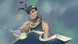 Naruto, Momochi zabuza, Weapons, Sword, Bandages laptop 1366×768 HD Background
