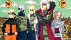 Naruto, Naruto shippuden, Yondaime, Namikaze minato, Sarutobi hiruzen, Kakashi hatake, Jiraiya l ...