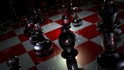 Pieces, Chess, Boards, Glass laptop 1366×768 HD Background