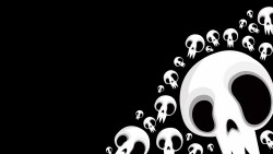 Skull, Black, White, Drawing Full HD 1080p HD Background