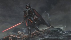 Star wars, Darth vader, Art, Rain laptop 1366×768 HD Background
