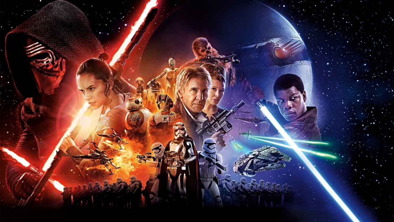 Star wars, The force awakens, Main characters laptop 1366×768 HD Background