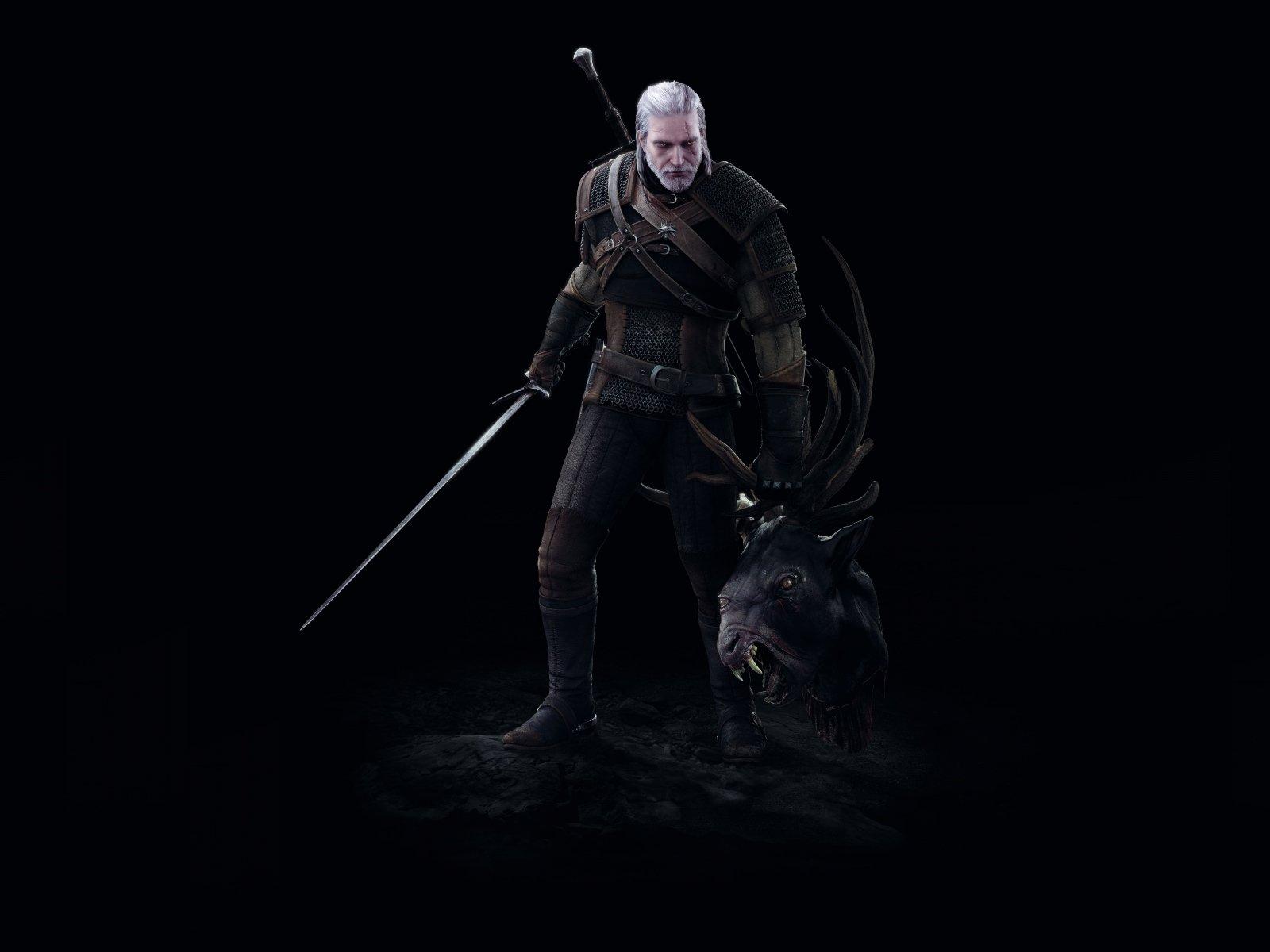 The witcher 3 wild hunt, Geralt, Battle, Head, Art 1600×1200 HD Background