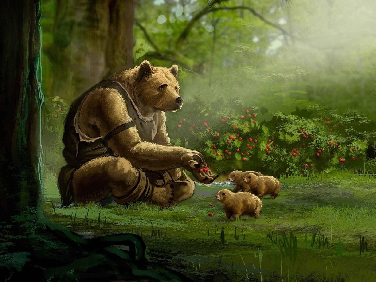 Witanlore, Dreamtime, Bear, Warrior, Ursa 1600×1200 HD Background