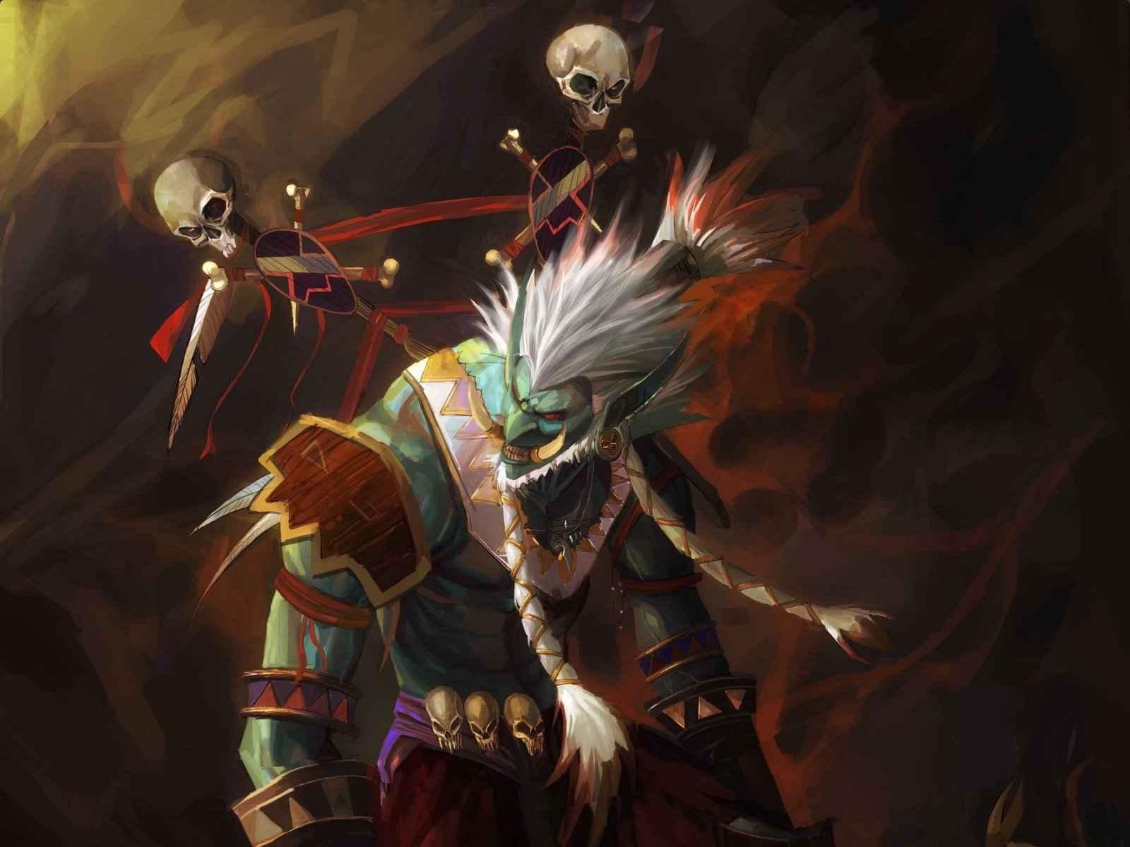World of warcraft, Troll, Shaman, Totem 1600×1200 HD Background