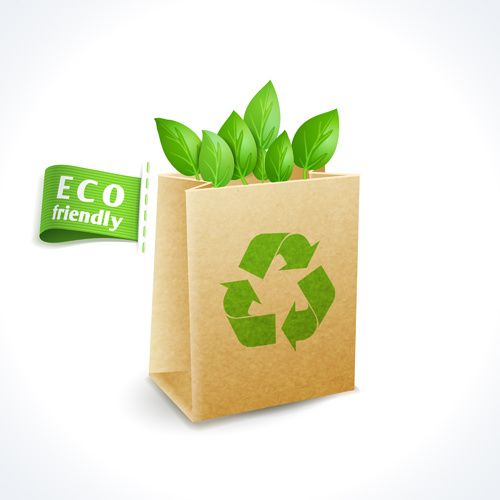 Eco friendly logos creative vector