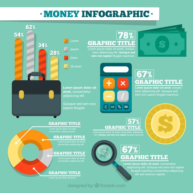 Economy and business infographic