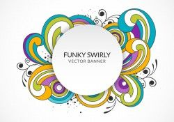 Funky Swirly Banner Vector