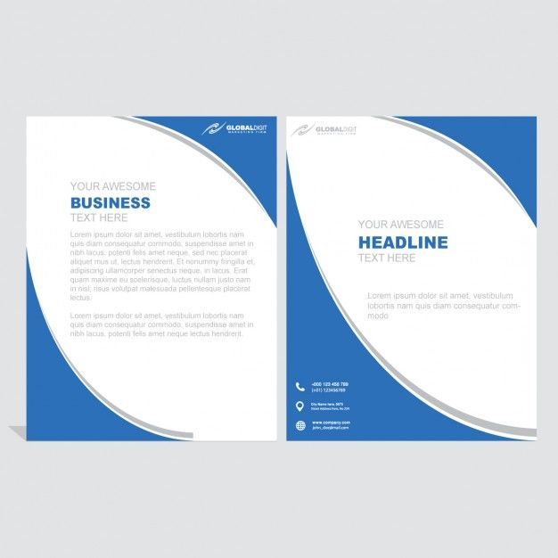 Leaflet with blue circular shapes
