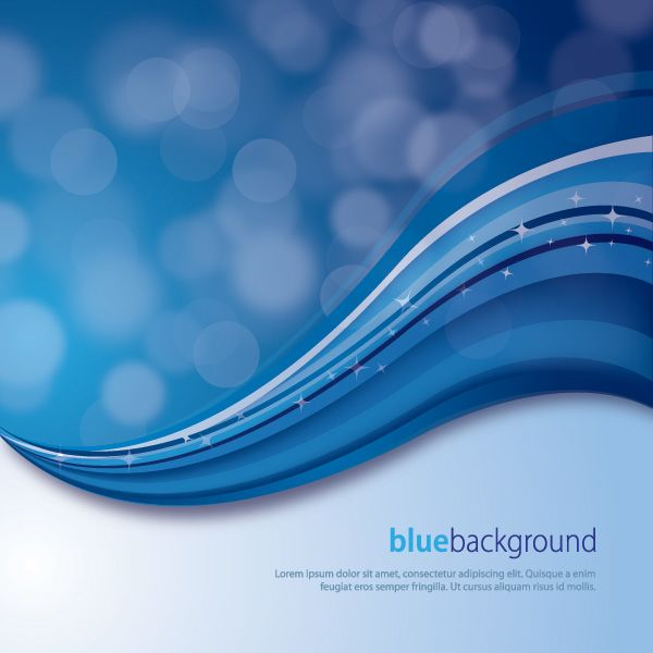 Magical Blue Background Vector