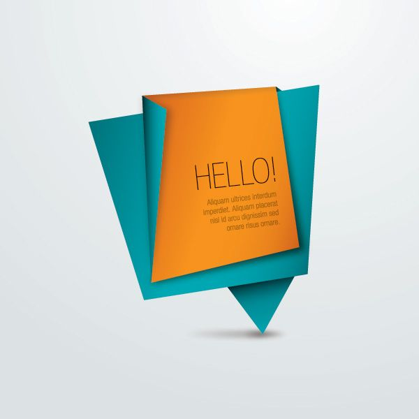 Origami Paper Message Vector