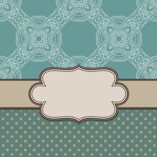 Ornament background with vintage frame vector