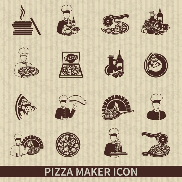 Pizza maker icons