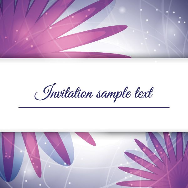 Purple Invitation Vector