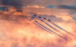 Red Arrows Air Show 5K Wallpapers