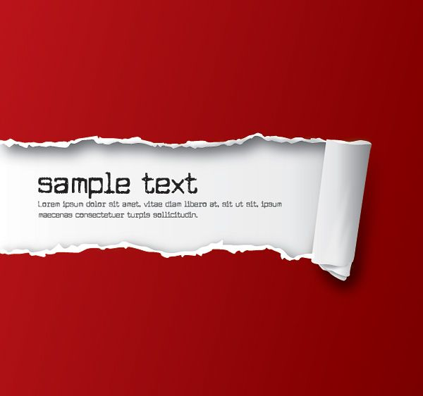 Ripped Paper Red Vector