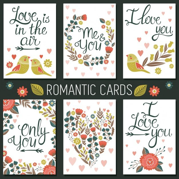 Romantic cards collection