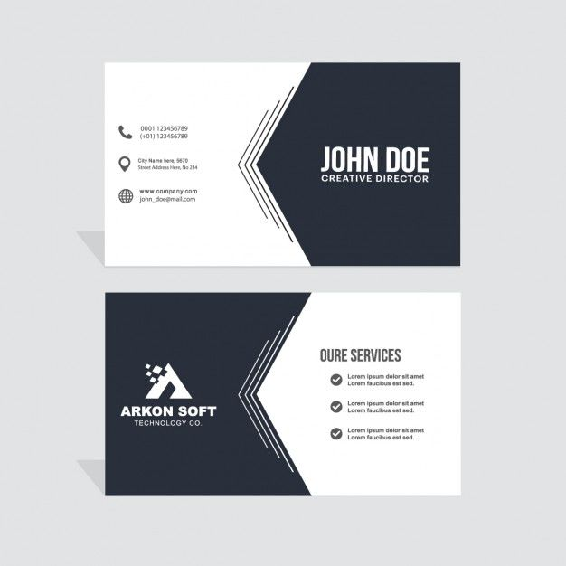 Simple corporate card, black and white