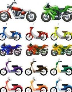 Small motorcycle design vector