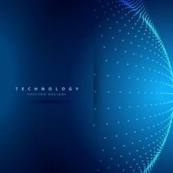 Spherical technology backgrounds vector 04