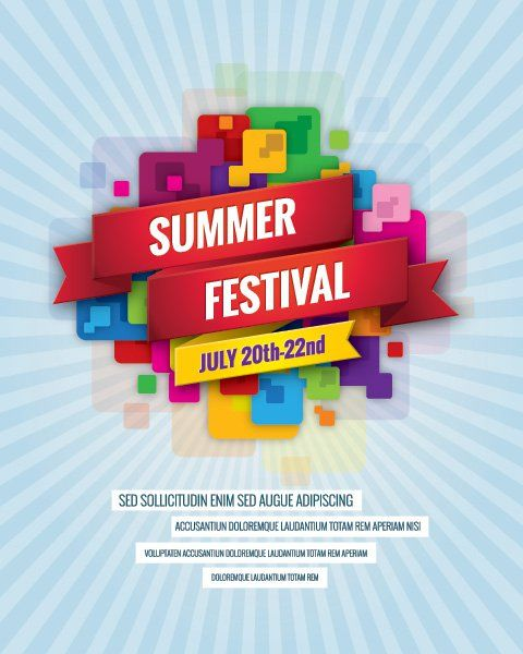 Summer Festival Billboard Vector