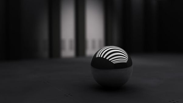 Wallpaper Black, Ball, Band, White HD, Picture, Image