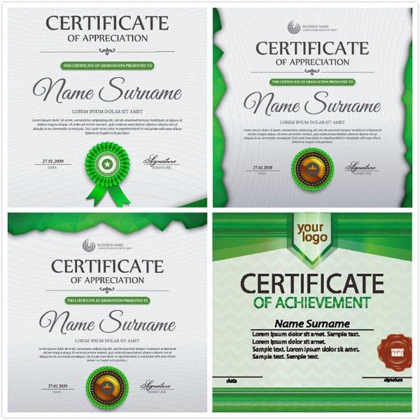 Certificate design vector