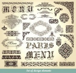Traditional classic European pattern vector material
