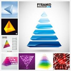 Pyramid information chart vector picture