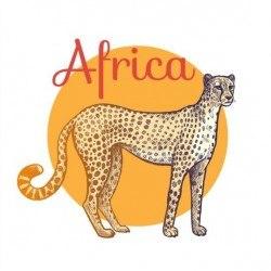 Africa leopard vector