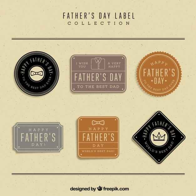 Assortment of vintage father's day labels