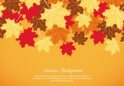 Autumn Vector Background Vector