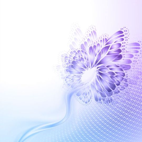 Beautiful butterfly wing with abstract background vector 02