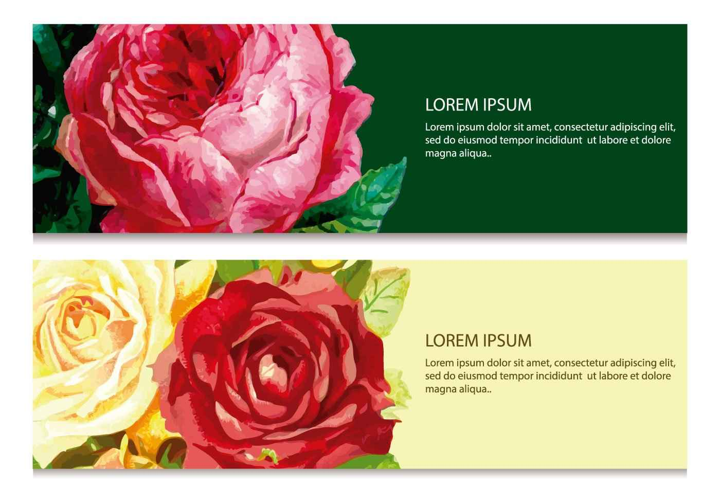 Beautiful Floral Banners Vector