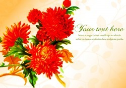 Beautiful Floral Illustration Template