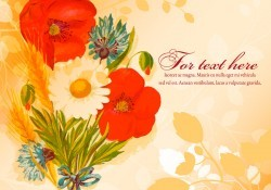 Beautiful Floral Text Template Vector