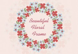 Beautiful Flower Wreath Background