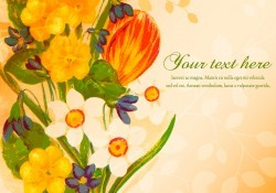 Beautiful Painted Floral Illustration Vector