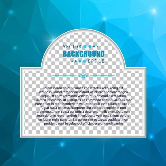 Blue polygon brochure cover template illustration vector 15