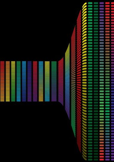 Colorful audio frequency background vector