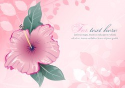 Cute Pink Floral Illustration Vector