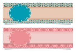Cute Scrapbook Style Banners Vector