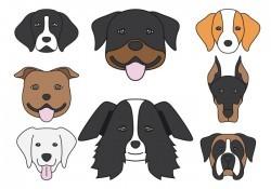 Dog head Icons