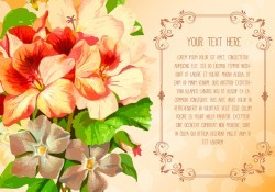 Floral Text Template Illustration Vector