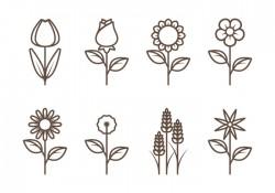 Flower Outline Vectors