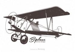 Free Biplane Vector Illustration