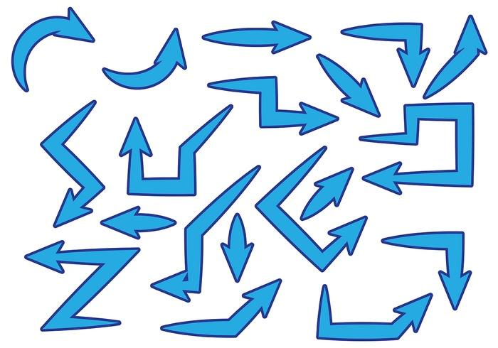 Free Blue Flechas Vector