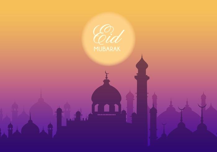 Free Eid Mubarak Vector Background